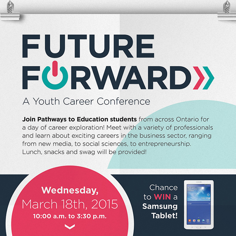 Pathways to Education — Future Forward Event Poster